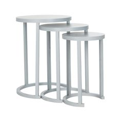 We love a good set of stacking tables. Perfect for entertaining, these round tables rest neatly within each other. With beautiful round tops and semi-circle bases, not only do they provide extra tablet...  Find the Circular Stacking Tables in Medium Gray, as seen in the Nesting Tables Collection at http://dotandbo.com/category/furniture/tables/nesting-tables?utm_source=pinterest&utm_medium=organic&db_sku=SAF0034-med gry