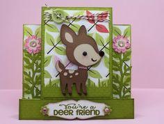 This cute little deer is from Cricut's Create A Critter.