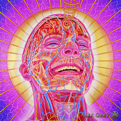 Alex Grey's 'Laughing Man'.  Cosmic Creativity ~ How Art Evolves Consciousness