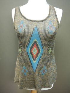 Sister Moses Indian Print Knit Sweater. So Cute for those hot summer days!! $55