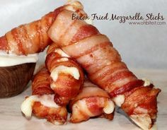 Bacon Fried Mozzarella Sticks