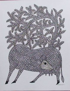 TOL-RS-07    by Rajendra Shyam    Size: 35x27.5cms    @ Rs. 6000/-