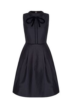 Main Doris Bow Neck Gazar Dress x