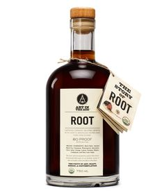 """Root Organic Spirits –""""At 80 proof, ROOT is unlike anything else on the market today and is the first true American liqueur since the Pre-Prohibition Era."""