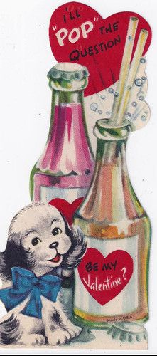 100's of vintage valentines on this pinboard ~)  soda pop