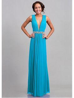 Alluring Chiffon V-neck Floor-length A-line Evening Dress