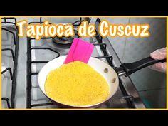 A tapioca de cuscuz é um lanche de preparo fácil, mas muito saboroso. O flocão de milho determina o gosto da massa, que pode ser recheada a gosto. Confira! Tapioca Fit, Griddle Pan, Cornbread, Food And Drink, Ethnic Recipes, Corn Flakes, Omelettes, Beef Jerky, Delicious Recipes