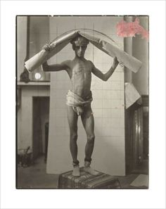 """Frank Brangwyn -Study for British Empire Panels, The Guildhall, Swansea, 1925, Unique gelatin silver print, Painter's grid marks in pencil and paint on recto, 8 1/4 x 6 3/8"""" P.O.R."""