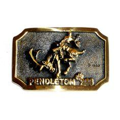 Pendleton 288 Heritage Mint Solid Brass Vintage 1980 Belt Buckle