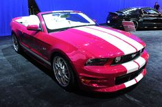 Ford Mustang Convertible  ☆ Girly Cars for Female Drivers! Love Pink Cars ♥ It's the dream car for every girl ALL THINGS PINK!
