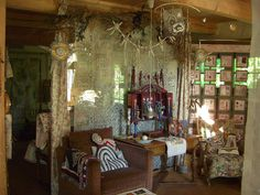 Sara Lechner's studio. SL is a contemporary textile artist.
