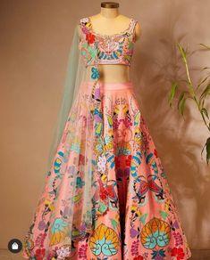 Indian Gowns Dresses, Indian Fashion Dresses, Indian Outfits, Fashion Outfits, Fashion Pants, Fasion, Lehenga Saree Design, Lehenga Suit, Lehenga Choli