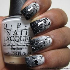 Black and White Gradient   Addicted to Polish