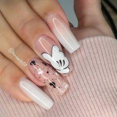 Cute Nail Art Designs, Nail Polish Designs, 3d Nails, Cute Nails, Fall Acrylic Nails, Disney Nails, Stylish Nails, Nail Tips, Beauty Nails