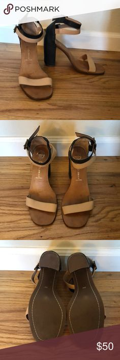 Jeffrey Campbell black and cream heels Worn once- too high for me. Jeffrey Campbell Shoes Heels