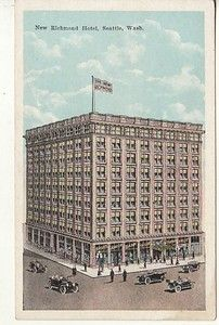 WA   SEATTLE   NEW RICHMOND HOTEL  vintage postcard