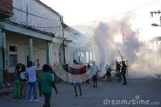 Photo about Fireworks during Las Parrandas festival in Guayos in central Cuba, known as one of the oldest traditions in the Caribbean. Image of parade, carnival, competition - 110016130 Festivals Around The World, Fireworks, Cuba, Caribbean, Carnival, Old Things, Around The Worlds, Street View, Traditional