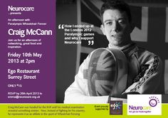 Flyer for Sheffield based charity Neurocare