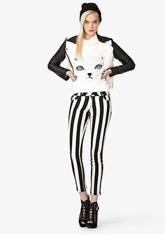 Stripe and cats this outfit is a go for me!