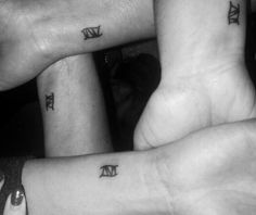 Yey! We finally did it! Matching sibling tattoos. Roman numeral 4.