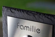 Naturschiefer & Edelstahl LED Türklingel - Klingelplatte Slat