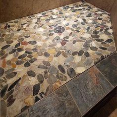 Bathrooms & Showers - Pebble Tile Shop Pebble Tile Shower, Shower Pics, Stone Tiles, Master Bathroom, Showers, Bathrooms, House Design, Decorating, Shop