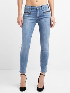 Zipper jeans ankle length Gap