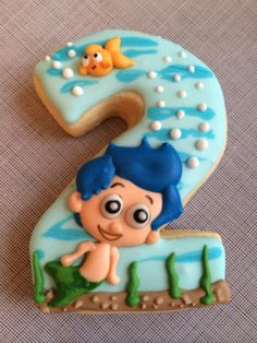 "#2 bubble guppy ""Gil"" cookie for a birthday boy"