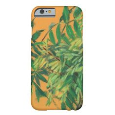 Ash-tree, green yellow summer greenery floral art barely there iPhone 6 case