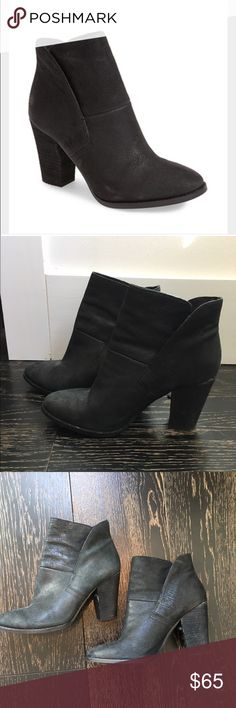 """Vince Camuto 'Ristin' Leather Bootie Black leather bootie by VC in size 8.5. 3"""" heel with leather lining. Comfortable and chic Vince Camuto Shoes Ankle Boots & Booties"""