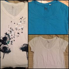 2 So T-shirt Bundle BUNDLE! 2 different medium So t-shirts for the price of one! One plain white one, one plain blue one. Original price is$18 EACH! Great deal! Dandelion tee sold out! SO Tops Tees - Short Sleeve