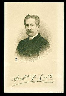 Bartolome Maura-Retrato de Antonio Fernández Grilo, 'poeta real' de Alfonso XIII y muy apreciado oor Isabel II, nacido en Cordiba y falkecido en Madrid.