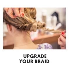 Hershesons' show us the new way to upgrade your braid. #hair #inspiration #tutorials