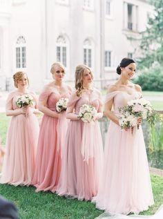 b99be5efca8bf blush // tulle Blush Bridesmaid Dresses, Bridesmaid Outfit, Wedding  Dresses, Bridesmaids,
