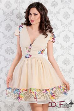 Rochie Colorful Beige