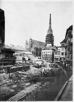 Vienna, Graben 1866 Wish You Are Here, Oise, Im In Love, Old Pictures, Time Travel, Hungary, Old World, American History, Paris Skyline