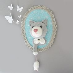 Commande personnalisée http://www.ligneretro.com/#!decoration/c9w7 #crochet #chat #ligneretro #ohboutdufil #virginiekarakus