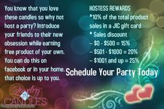 https://www.jewelryincandles.com/store/vickie-candles If you want to have online party contact me at  facebook or email mvickie054@gmail.com or you can text me at 315-450-9582