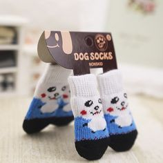 What's cuter than a dog wearing socks? Keep their little feet warm and toasty - perfect for winter! Cheap Dog Clothes, Pet Clothes, Dog Paws, Pet Dogs, Pets, Dog Booties, Cute Little Dogs, Famous Brand Shoes, Dog Socks