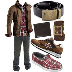 """The Bronze Belt - Red Plaid"" by kristinmadsen on Polyvore"