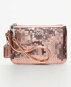 Got This Cutie Sequin Coach Wristlet For A B Day Present So Fun