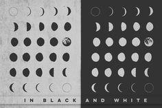 30 Hand-Drawn Moon Phases - Illustrations - 2