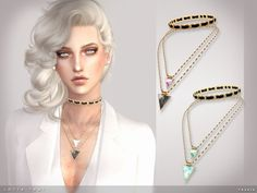 Sims 4 Updates: TSR - Accessories, Jewelry : Lotta That Necklace by toksik, Custom Content Download!