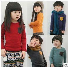 2014 candy kleurige kleren effen kleur t shirt jongens en meisjes alle ok herfst en winter shirt voor geschikt 2 7 jaar oude baby in  van T- shirts op AliExpress.com | Alibaba Groep