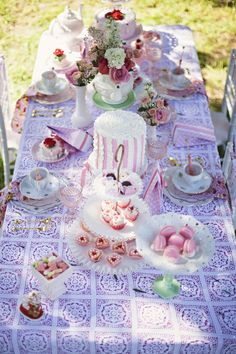 Fanciful Strawberry Shortcake Themed Tea Party by Minted and Vintage Rental and Sienna Rose Photography!
