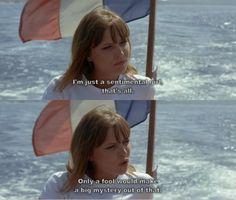 "Anna Karina in Jean-Luc Godard's ""Pierrot le Fou"" (1965)"