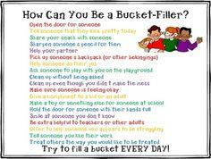 Art Bucket Filler List classroom-ideas