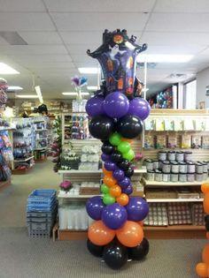 halloween balloon columns   Halloween Balloon Column