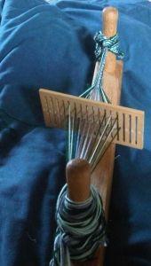 Weaving patterned tape on a rigid heddle loom