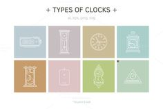 + Vector illustrations of Clocks + by Oleg & Katya on @creativemarket